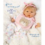 Baby Doll that Looks Real, Happy Teddy, 19-inch Vinyl with Weighted Body
