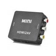 HDMI to AV / CVBS L/R Video Converter - Black Black
