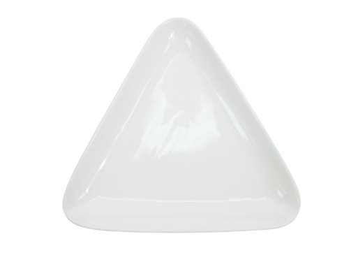 CAC China COP-T8 Coupe 8-1/4-Inch by 7-1/2-Inch Super White Porcelain Triangular Plate, Box of 24