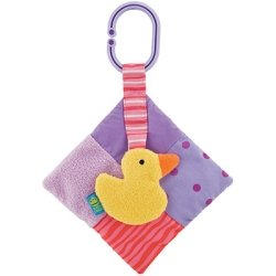 Duck Purples Quiltie Rattle