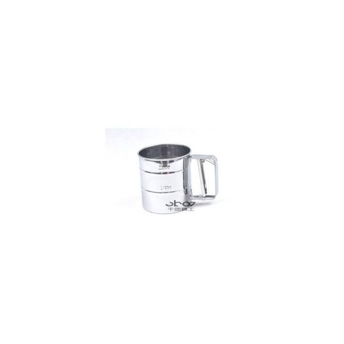 Hand-Pressure Single-Deck Stainless Steel Flour Sifter Baking Tool (Small Size)