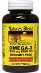 Omega-3 Fish Oil Mercury Free 60 Sgels