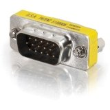 Cables To Go 19942 HD15 VGA M/F Mini Port Saver Adapter (Silver/Yellow)