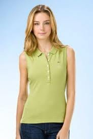 Lacoste Womens Central Sleeveless Polo Chartruese Size 4