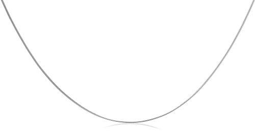 9ct White Gold Round Snake 41cm Chain