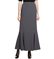 M&S Collection Panelled Crêpe Long Skirt
