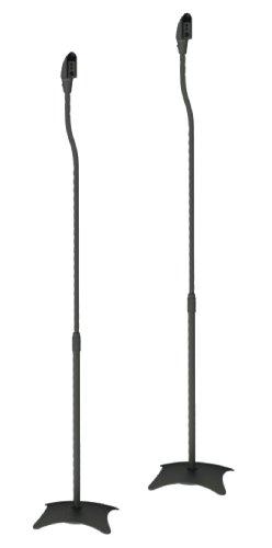 2-Lautsprecherstnder-Universal-fr-Satelliten-Surround-Boxen-Schwarz-je-45kg-belastbar-von-HALTERUNGSPROFI