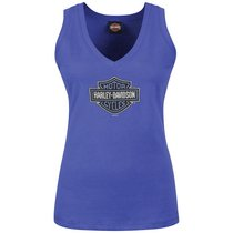Harley-Davidson Womens Metallic Bliss V-Neck Purple Sleeveless Tank