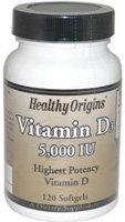 Healthy Origins, Vitamin D3, 5,000 IU, 120 Softgels