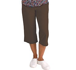 Madison Medical Uniforms Capri Scrub Pant (Chocolate 2X) [Apparel]
