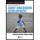 Blackwell Handbook Of Early Childhood Development front-1007083