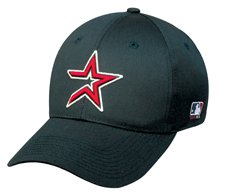 MLB ADULT Houston ASTROS Home Black Hat Cap Adjustable Velcro TWILL