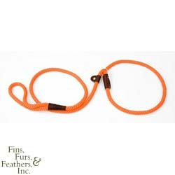 Mendota Products Small Dog Slip Lead, Orange, 3/8-Inch X 6-Feet