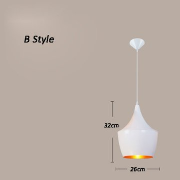 Modern Musical Instrument White pendant light Bar Coffee Dining Room Office Ceiling Lamp Fixture