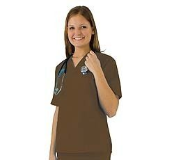 Women's Scrub Set - Medical Scrub Top and Pant, Chocolate, XX-Large