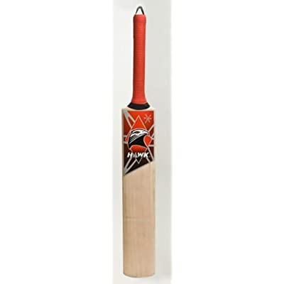 Hawk Runmaker Kashmir Willow Cricket  Bat (Short Handle, 1100-1125 g)