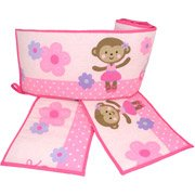 Brown And Pink Baby Bedding