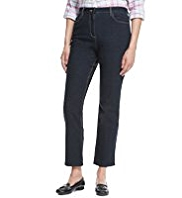 Classic Cross Hatch Slim Leg Denim Jeans