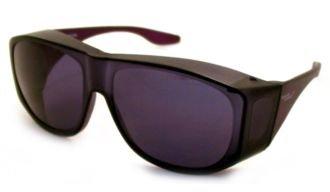 Solar Shield Square Lite Fits Over Sunglasses - Smoke
