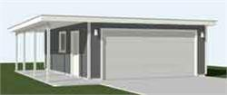Garage Plans Two Car Flat Roof Garage With