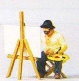 Landscape Painter w/Easel & Painting HO Preiser Models (Preiser Figure compare prices)
