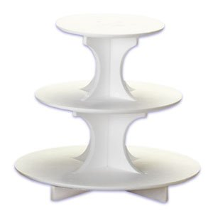 Bakery Crafts 3-Tier Treat Tree Styrofoam Cake/Cupcake Stand