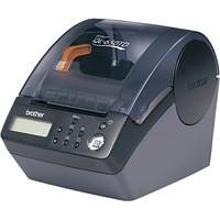 Brother QL 650TD - Label printer - B/W - direct thermal - Roll (6.2 cm) - 300 dpi - up to 90 mm/sec - capacity: 1 rolls - serial, USB