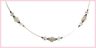 LDS Girls Beautiful sterling silver baptism necklace for her special day featuring white jade stones with shimmering lead-free crystals! This measures 13