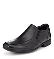 Leather Wide Fit Slip-On Shoes