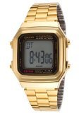 Casio A178WGA-1A Vintage  - Wristwatch Unisex, Stainless steel plated, Band Colour: gold
