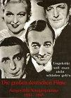 Image de Die grossen deutschen Filme: Ausgewählte Filmprogramme 1930-1945