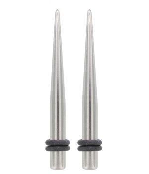 Pair 6G - Spike Taper Expander Plug Ear Lobe Stretcher 6 Gauge Body Jewelry