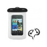 Universal Stylish Waterproof Bag with Sport Armband for Iphone / Cell Phone - White + Black