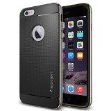 iPhone 6 Plus ケース, Spigen® [アルミニウム バンパー] ネオ・ハイブリッド メタル Apple iPhone (5.5) アイフォン 6 プラス カバー (国内正規品) (スペース・グレー SGP11177)