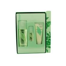 Green Tea By Elizabeth Arden For Women Eau De Parfum Spray 3.3 Oz & Honey Drops Body Cream 3.3 Oz & Shower Gel 3.3 Oz & Eco-Friendly Cosmetic Bag