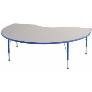 48x72 Kidney Adjustable Activity Table (19-30 Legs)
