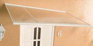 AluPultvordach Haustürvordach Vordach Standard weiß 120 x 85 x 38 cm   Bewertungen