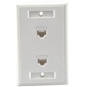 CABLES TO GO, C2G 2 Socket Network Faceplate (Catalog Category: Accessories / Rack & Cabling)