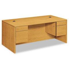 * 10500 Series 3/4-Height Double Pedestal Desk, 72w x 36d x 29-1/2h, Harvest