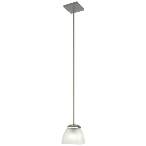 Yosemite Home Decor 95521R-1Sn Half Dome Mini Pendant With White Frosted Shade,1-Light, Satin Nickel