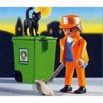 プレイモービル シティーライフ ゴミ箱と清掃人 3196