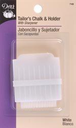 Dritz Tailor's Chalk & Holder W/Sharpener White 748; 6 Items/Order