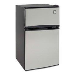 * Counter-Height 3.1 Cu. Ft. Two-Door Refrigerator/Freezer, Black/Stainless Steel front-379893