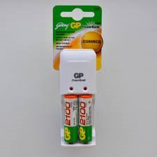 Godrej GP Charger with 2 x AA 2100mAH Batteries (Single unit)