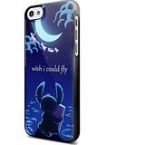 Stitch Peter Pan Flying Quote For iPhone 5/5s Black Case (Peter Pan Iphone Case compare prices)