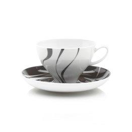 Mikasa Jazz 10-Ounce Teacup And Saucer, Black