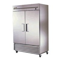 "True Refrigeration - Commercial Freezer - Two (2) Door - All Stainless Steel - 54"" Wide - 49 Cu. Ft. - TS-49F"