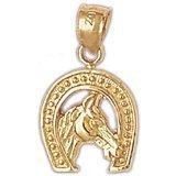 CleverEve 14K Gold Pendant Horseshoes 3 Grams
