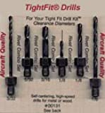 Short Length Threaded Shank Drill Bit Set 1, Combo Series Drill Bits Tight Fit Tools 00131