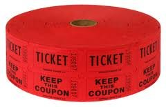 Two (2) Rolls of Two-part Red Double Roll Raffle Tickets Totaling 4,000 Tickets (Two Part Raffle Tickets compare prices)